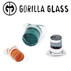 Gorilla Glass Tiger Stripe Labrets 2 Gauge to 1""