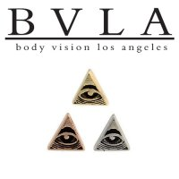 "BVLA 14Kt Gold ""Illuminati"" Threaded End Dermal Top 18g 16g 14g 12g Body Vision Los Angeles"