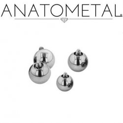 Anatometal Surgical Steel Threaded Ball End 16 Gauge 16g
