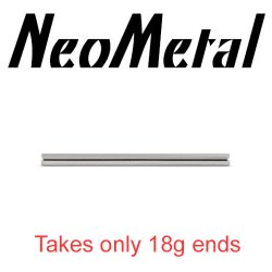 "14 Gauge 14g NeoMetal Threadless Titanium Ear Rod Industrial Barbell Shaft ""Press-fit"""
