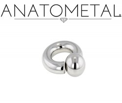 Anatometal Surgical Stainless Steel Screw on Ball Ring 6g 6 Gauge