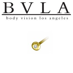 BVLA 14kt Yellow White Rose Gold Saucer Nostril Screw Nose Ring Nail Stud Bone 20g 18g 16g Body Vision Los Angeles