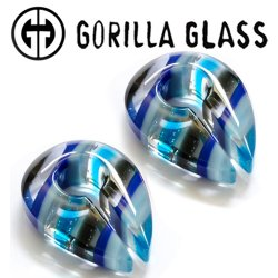 "Gorilla Glass Linear Keyholes 0.9oz Ear Weights 19mm (3/4"") And Up (Pair)"