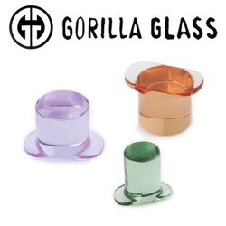 Gorilla Glass Solid Labrets 0 Gauge to 1""
