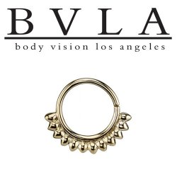 "BVLA 14kt Gold ""Janus"" Nose Nostril Septum Ring 16 Gauge 16g Body Vision Los Angeles"