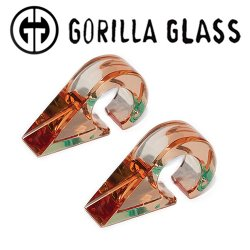 "Gorilla Glass Solid Triangles 0.2oz Ear Weights 1/2"" And Up (Pair)"