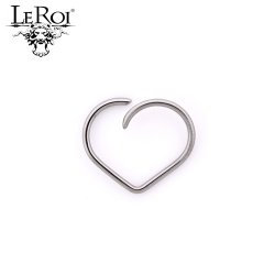 LeRoi Surgical Steel Esoteric Heart Daith Ring 20 gauge 18 Gauge 16 Gauge 20g 18g 16g