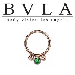 "BVLA 14kt Gold ""Oberon"" Nose Nostril Septum Daith Seam Ring 16 Gauge 16g Body Vision Los Angeles"