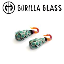 Gorilla Glass Sharur Allure Drops 1.9oz Ear Weights 6g 4g 2g (Pair)