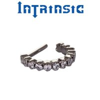"Intrinsic Body Titanium ""Radiance\"" Clicker Nose Septum Helix Daith Ring 20 Gauge 18 Gauge 20g 18g"