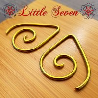 "Little Seven Niobium Small ""Teardrop\"" Spirals 12 Gauge 12g (Pair)"