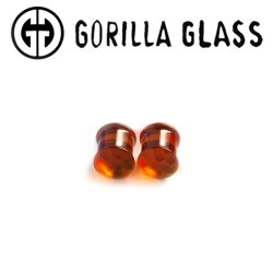 "Gorilla Glass Double Flare Simple Martele Plugs 6 Gauge to 1/2"" (Pair)"