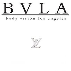 "BVLA 14kt Yellow White Rose Gold 5mm City Life LV Threadless End 18g 16g 14g Body Vision Los Angeles ""Press-fit"""