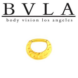 BVLA Quarencia 24kt Gold Plated Septum Clicker 16g 14g Body Vision Los Angeles