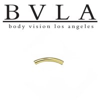BVLA 14kt Gold Curved Barbell (Shaft Only) 12 Gauge 12g Body Vision Los Angeles