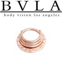 "BVLA 14kt Gold Hammered ""Noah"" Septum Ring 16 Gauge 16g Body Vision Los Angeles"