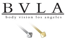 BVLA 14kt Yellow White Rose Gold Square Pyramid Nostril Screw Nose Bone Nail Ring Stud 20g 18g 16g Body Vision Los Angeles