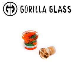 "Gorilla Glass Single Flare Power Plugs 0g to 1"" (Pair)"