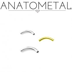Anatometal Titanium Internally Threaded Curved Barbell (Shaft Only, No Ends) 16g 14g 12g