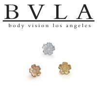 "BVLA 14kt Gold Simple ""Daisy"" Threadless End 18g 16g 14g ""Press-fit"""