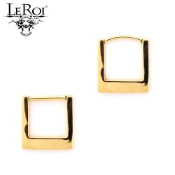 LeRoi 14kt Gold Geometric Square Clicker Hinge Ring 14 Gauge 14g