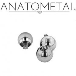 Anatometal Surgical Steel Threaded Ball End 2g 2 Gauge