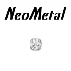 "18 Gauge 18g NeoMetal Threadless Titanium 2.0mm Prong-Set Genuine Diamond End ""press-fit"""