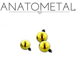 Anatometal Titanium Threaded Ball End 16 Gauge 16g