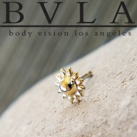 "BVLA 14kt 18kt Gold ""Sun\"" 5mm Threadless End 18g 16g 14g \""Press-fit\"""