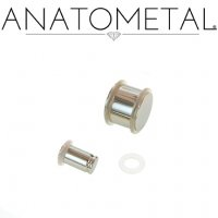 Anatometal Stainless Surgical Stainless Steel No Flare Solid Plugs 14g through 5/8""