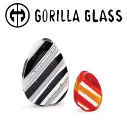 "Gorilla Glass Linear Teardrop Plugs 1/2"" to 2"" (Pair)"