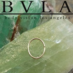 BVLA 14kt Gold Oval Seam Ring 20 gauge 20g Body Vision Los Angeles