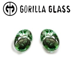 "Gorilla Glass Power Ovoids 0.5oz Ear Weights 1/2"" And Up (Pair)"