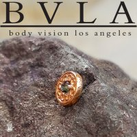 "BVLA 14kt Gold ""Elizabeth\"" Threadless End 18g 16g 14g \""Press-fit\"""