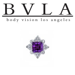 BVLA 14kt Gold Princess Mini Kandy Threaded End Dermal Top 18g 16g 14g 12g Body Vision Los Angeles