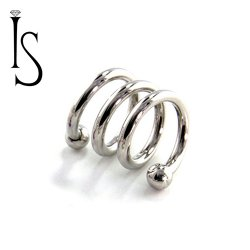 IS Surgical Steel Internally Threaded Spiral Barbell 16 Gauge 16g