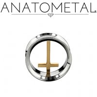 "Anatometal Stainless Steel Eyelet Bronze Cross Insert 1/2"" to 7/8"""