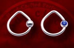 Body Circle Surgical Stainless Steel Triangle Teardrop Captive Bead Ball Closure Ring 12 Gauge 12g