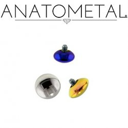 Anatometal Titanium Threaded M&M End 6 Gauge 6g