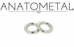 Anatometal Surgical Stainless Steel Segment Seam Continuous Ring 12g 12 Gauge