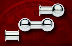Body Circle Surgical Stainless Steel Large Gauge Straight Barbell 0g 00g