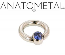 Anatometal Surgical Steel Gem Captive Bead Ball Closure Ring 2g 2 Gauge