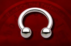 "Body Circle Surgical Stainless Steel 1/2"" Circular Horseshoe Barbell 10 Gauge 10g Sale!"