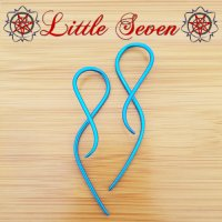 "Little Seven Niobium ""Goddess\"" Hanging Twists 12 Gauge 12g (Pair)"