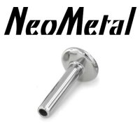 "16 Gauge 16g Labret NeoMetal Threadless Titanium Flatback Labret Post 5/32"" Disk ""Press-fit"""