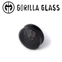 "Gorilla Glass Obsidian Double Flare Martele Plugs 0 Gauge to 2"" (Pair)"