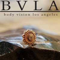 "BVLA 14Kt Gold ""Afghan\"" Threadless End 18g 16g 14g \""Press-fit\"""