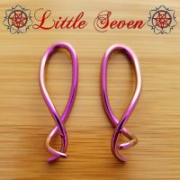 "Little Seven Niobium ""Squid\"" Hanging Twists 12 Gauge 12g (Pair)"