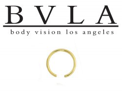 BVLA 14kt Gold Ring without bead 20g Body Vision Los Angeles