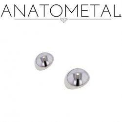 Anatometal Titanium Threaded Dome End 8 gauge 8g